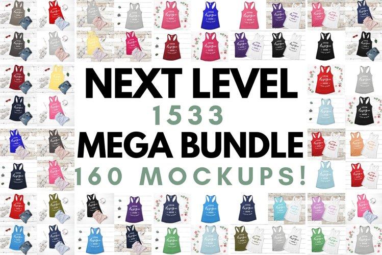 Next Level 1533 Tank Top Mockup Mega Bundle Multi Colors example image 1