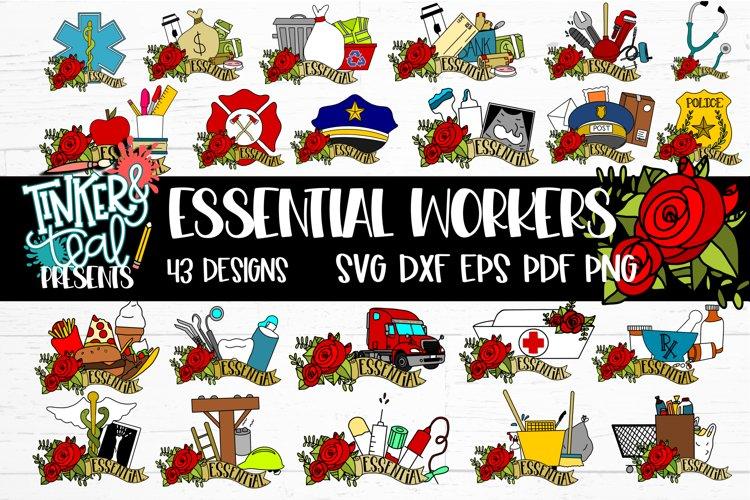 NEW Essential Worker SVG Bundle