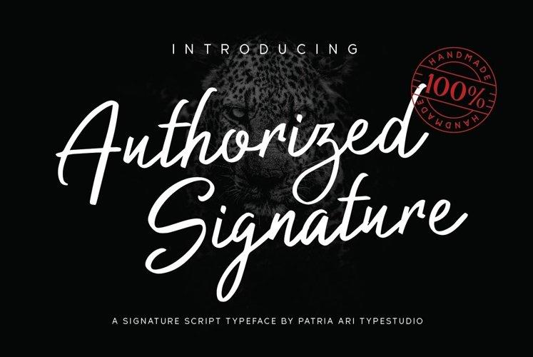 Authorized Signature example image 1