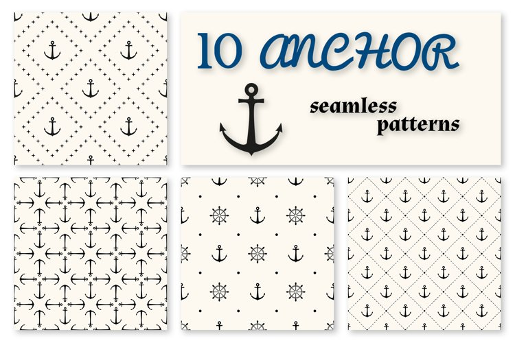 10 Anchor seamless patterns example image 1
