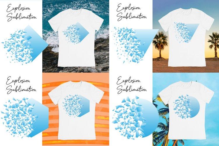 Explosion Sublimation designs bundle. T shirts clipart