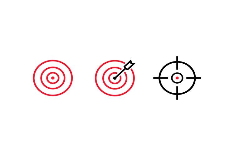 goal target aim icon line set arrow idea perfect hit 756129 icons design bundles goal target aim icon line set arrow idea perfect hit