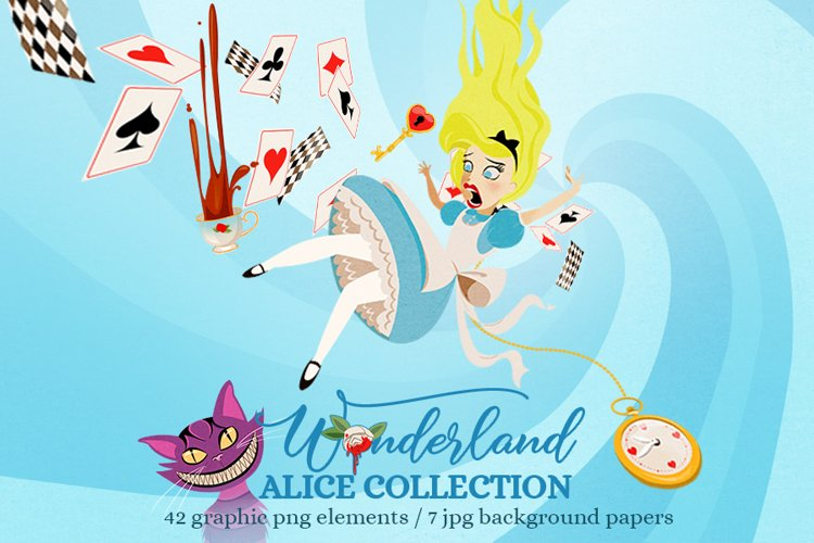Alice in Wonderland Clip Art Collection example image 1
