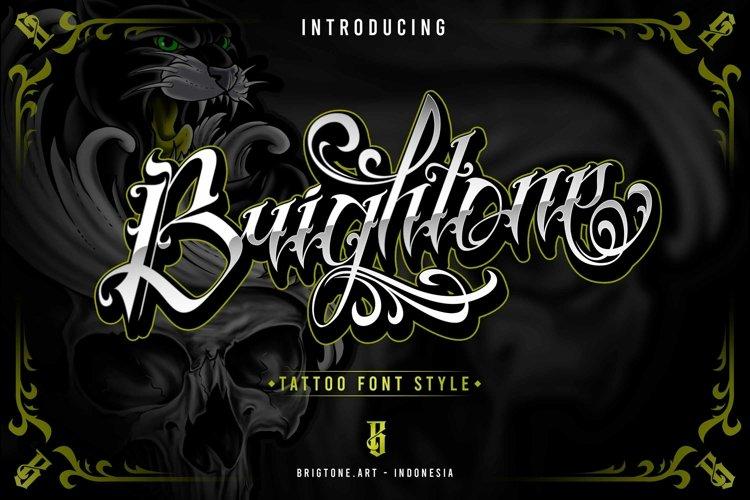 Brightone | Tattoo Script font