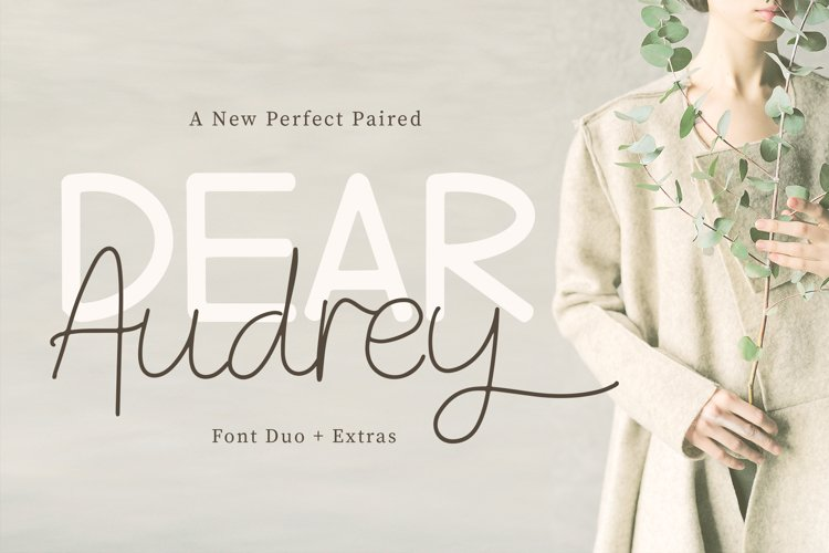 Dear Audrey - Font Duo example image 1