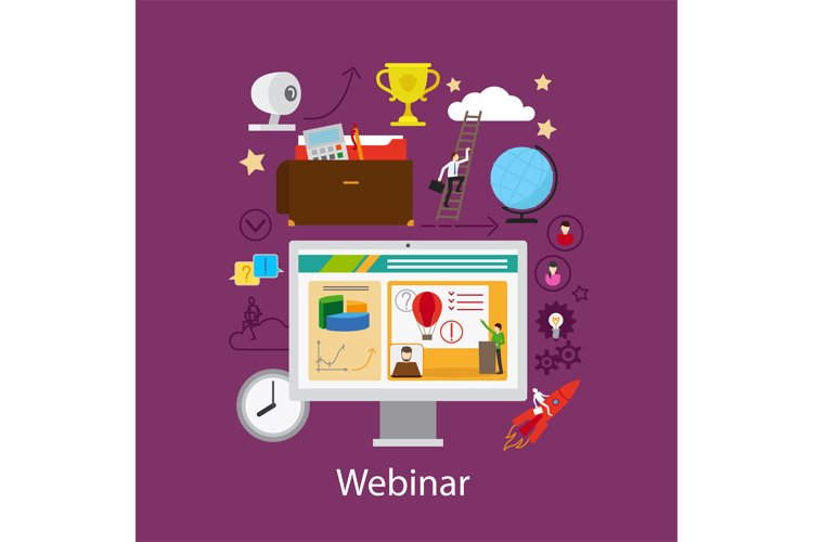 Webinar and online learning concept example image 1