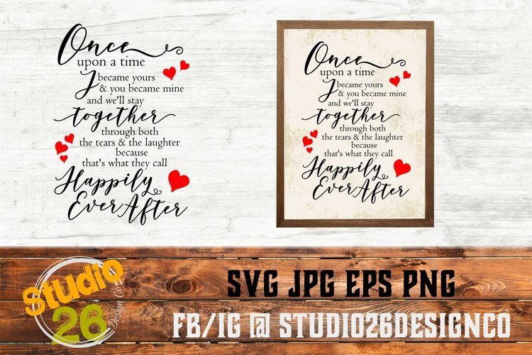 Once upon a time poem - SVG PNG EPS example image 1