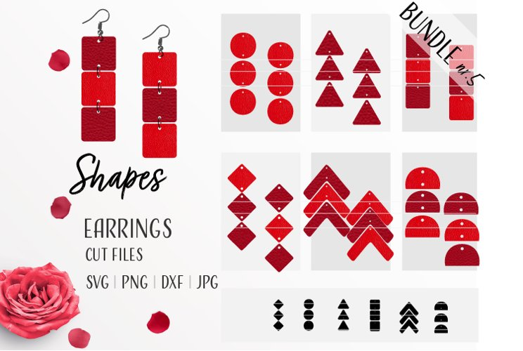 Earrings Bundle Svg / Leather / Faux / Wood / Cut example image 1