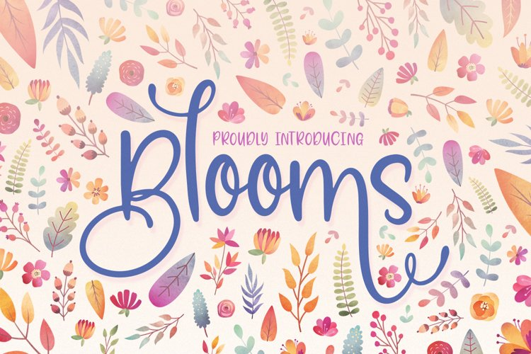 Blooms Font Family example image 1