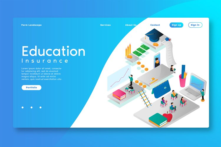 Education Insurance - Landing Page example image 1