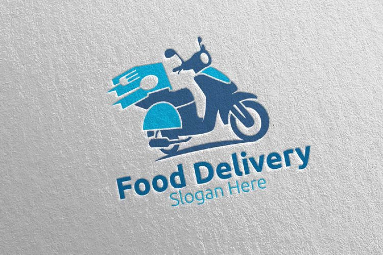Scooter Fast Food Delivery Logo 7 example image 1
