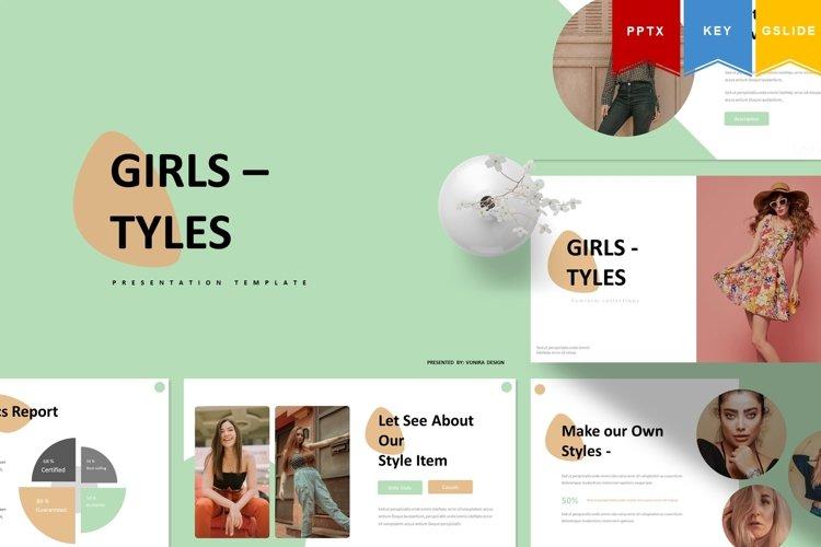 Girl Tyles | Powerpoint, Keynote, GoogleSlides Template example image 1