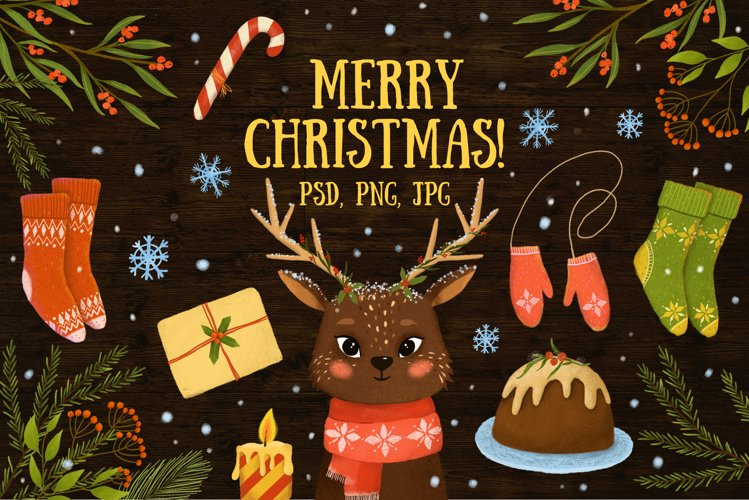 Merry Christmas clipart example image 1