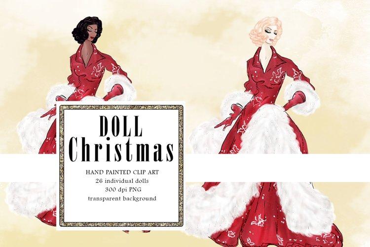 Christmas Fashion Illustration, Festive Dolls PNG example image 1