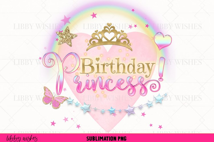 Birthday Princess girls Sublimation design