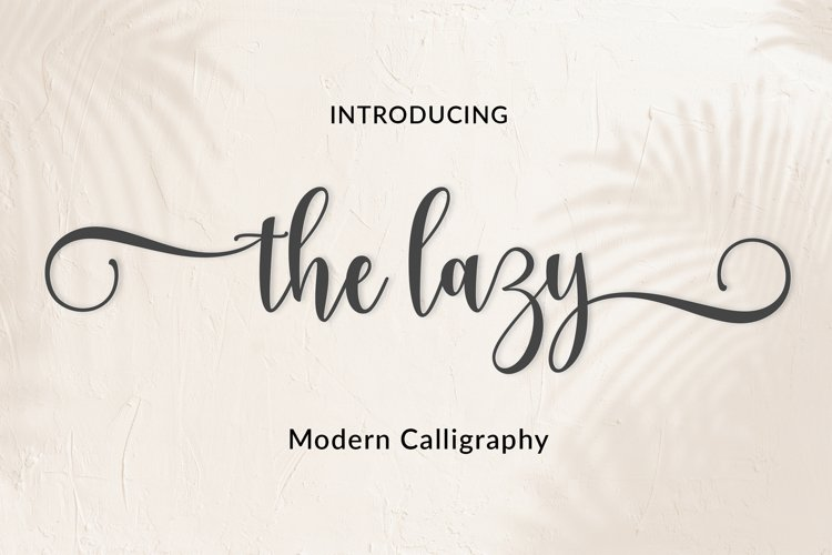 The lazy | WEB FONT example image 1