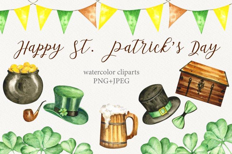 Happy St.Patricks Day Watercolor set