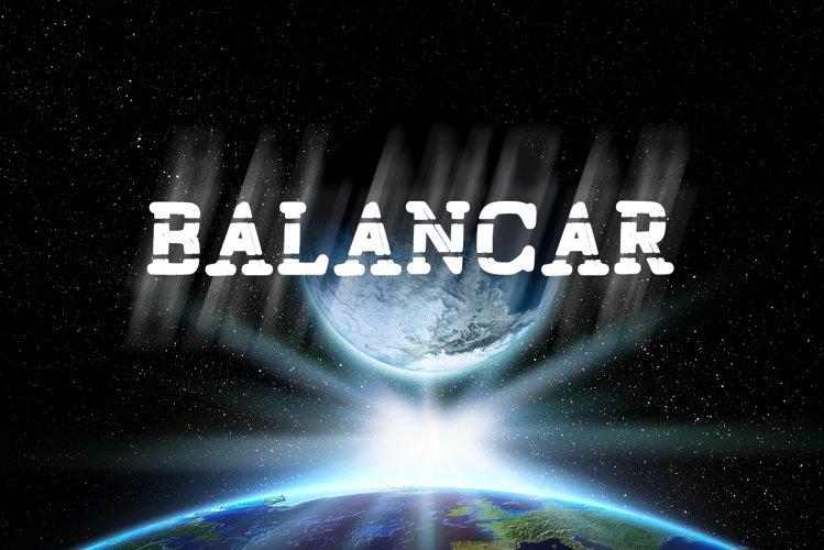 Balancar Sci Fi Font example image 1
