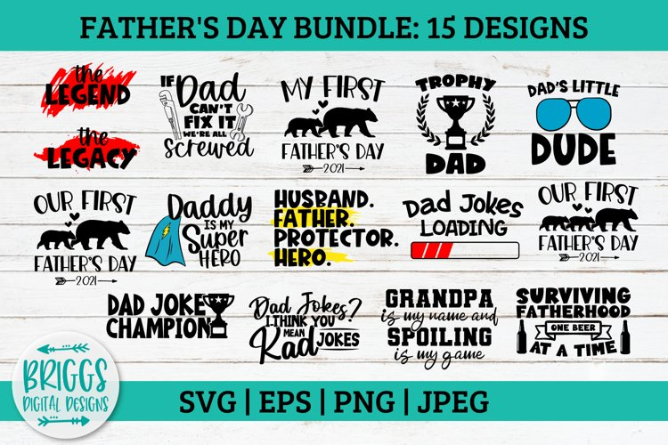 Fathers Day SVG Bundle First Fathers Day, Daddy and Baby Be