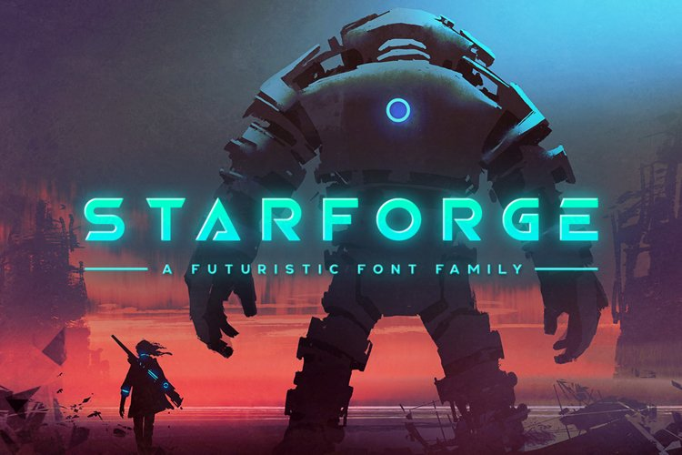 StarForge Typeface example image 1