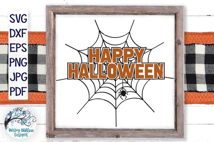 Happy Halloween Spiderweb SVG