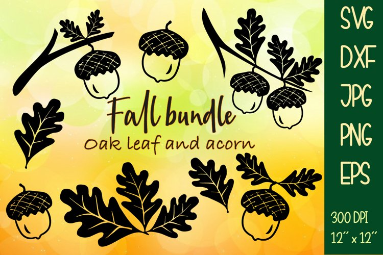 Fall bundle oak. Sublimation or Cutting SVG DXF PNG EPS JPG. example image 1