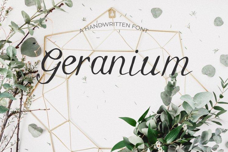 Geranium Font example image 1