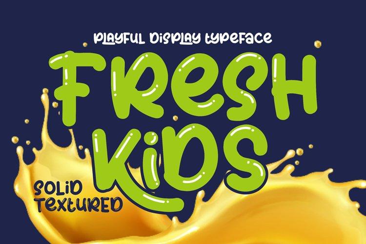 Fresh Kids - Summer Font example image 1