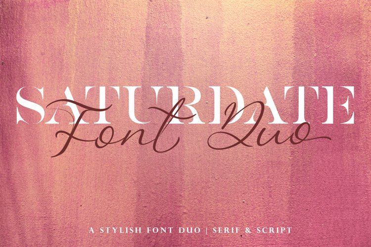 Saturdate Font Duo example image 1