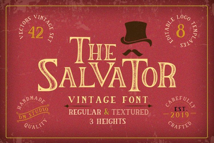 The Salvator - Vintage Font Set example image 1