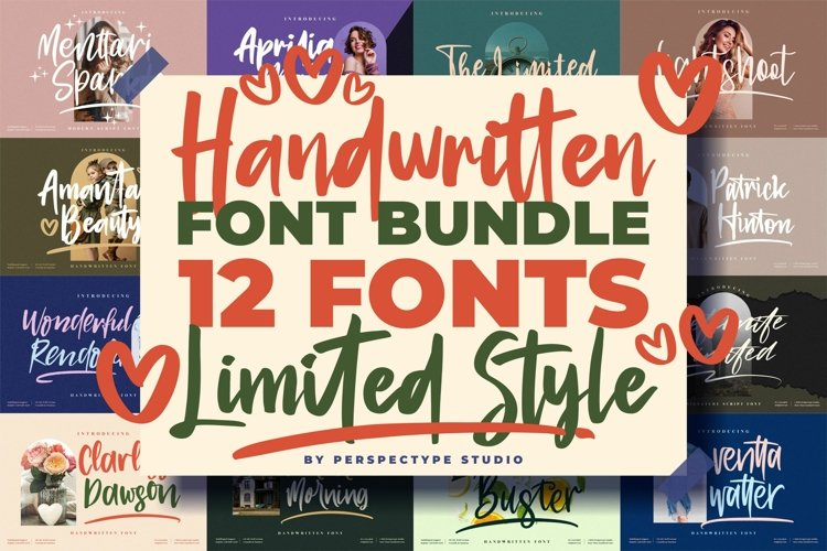 Awesome Handwritten Fonts from Perspectype Studio