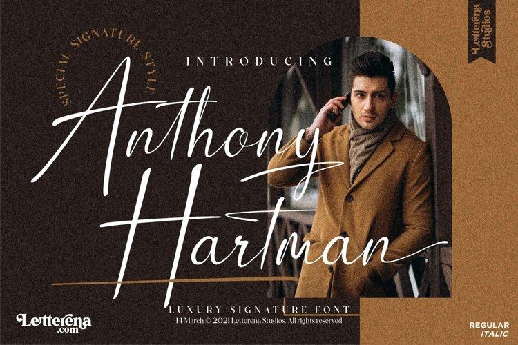 Anthony Hartman - Luxury Signature Font example image 1