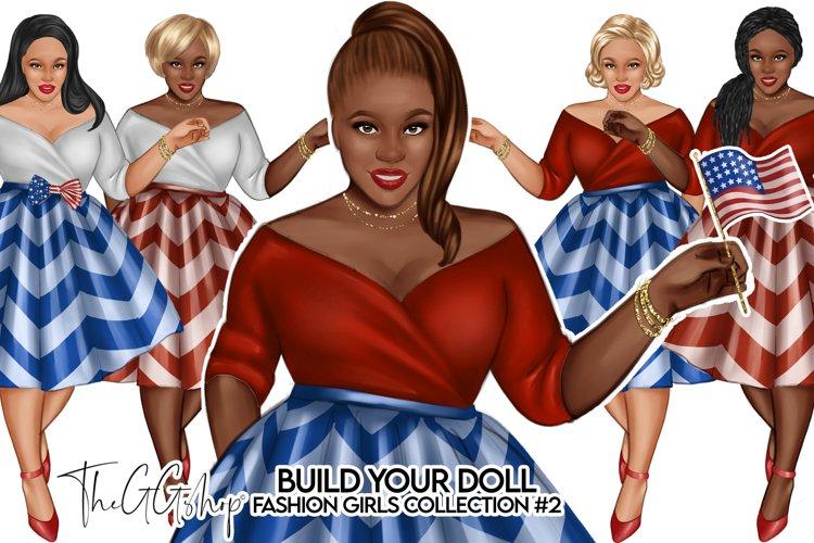 Fashion Curvy Girls Cliparts