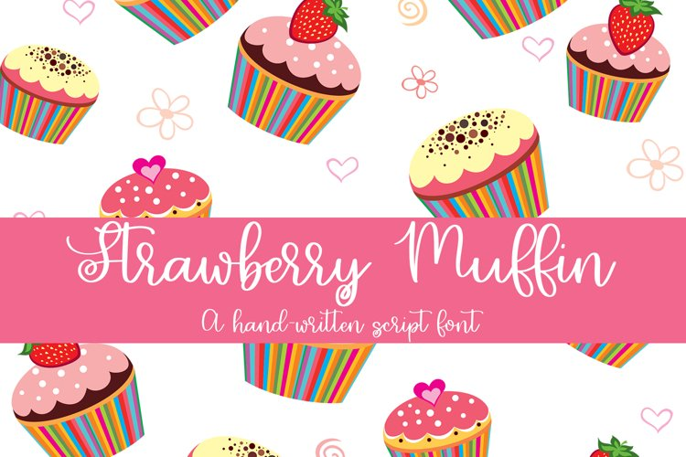 Strawberry Muffin - A Hand-Written Script Font example image 1