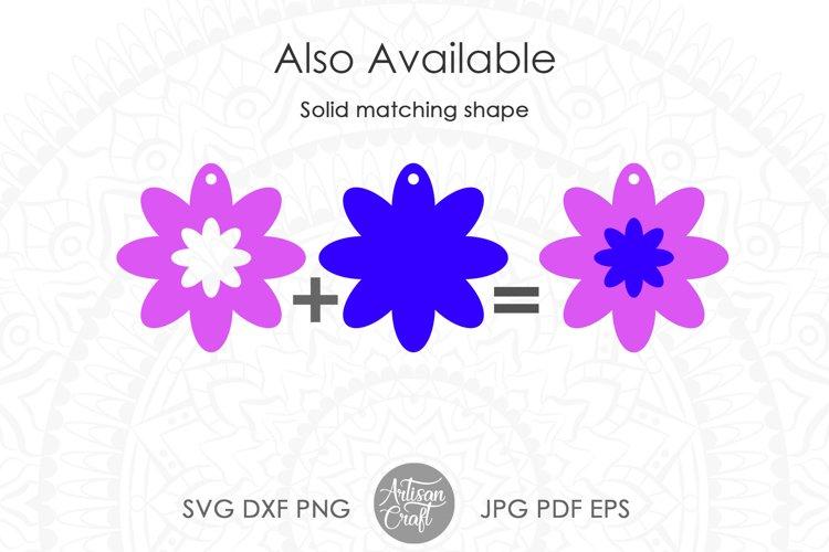 Earring SVG, Flower earrings SVG, leather earring patterns example 4