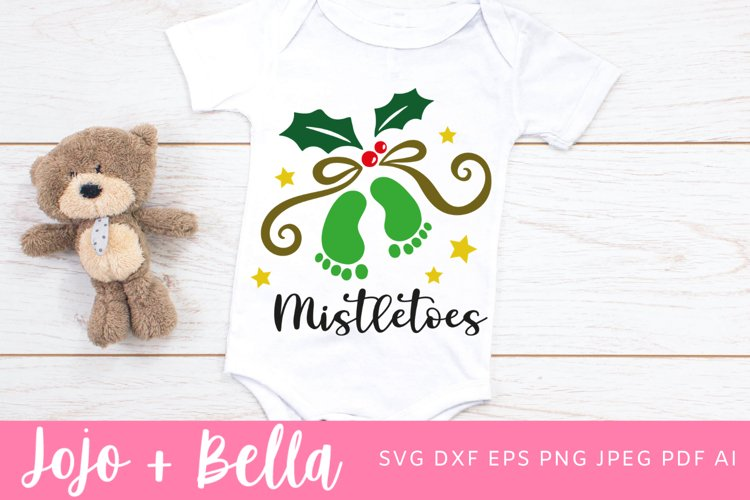 Mistletoes Svg | Christmas Svg | Baby Svg example image 1