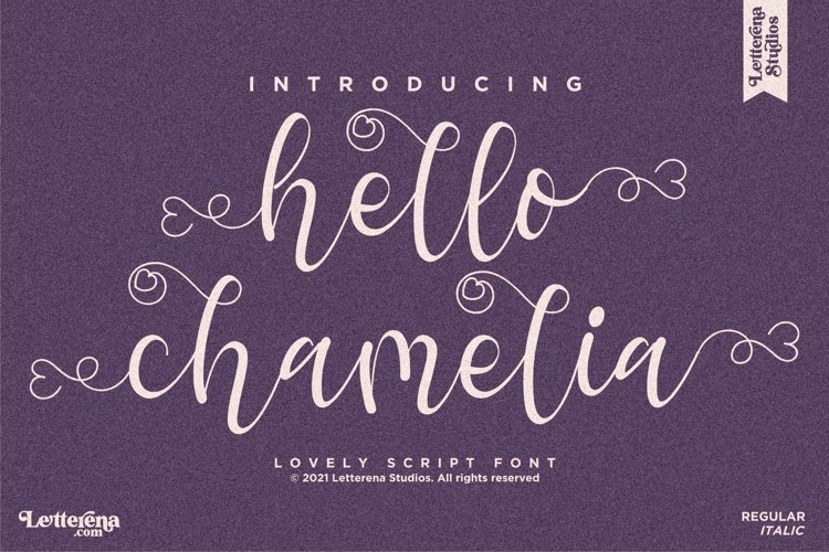 hello chamelia - Lovely Script Font example image 1