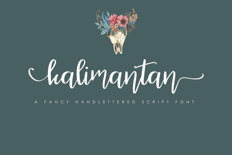 Web Font Kalimantan Script Font example image 1