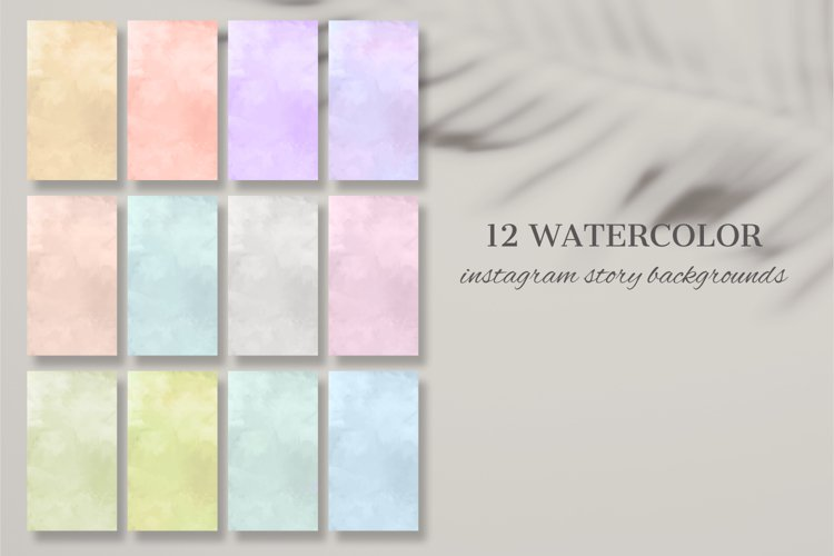 12 Watercolor Instagram Story Backgrounds
