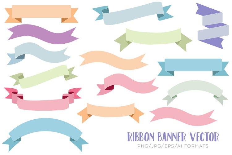 Ribbon banner vector clipart