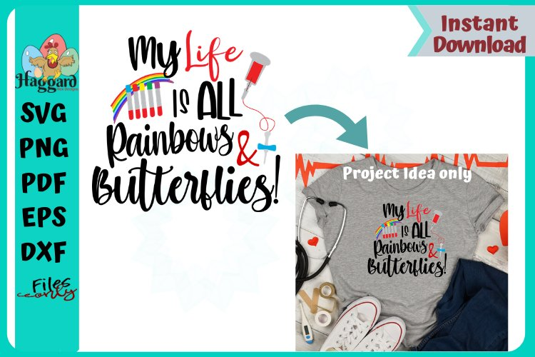 My life is rainbows and butterflies example image 1