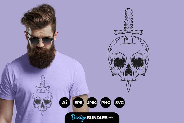 Vintage Skull for T-Shirt Design