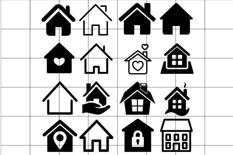 House Icon vector Set. House illustration collection. example image 1
