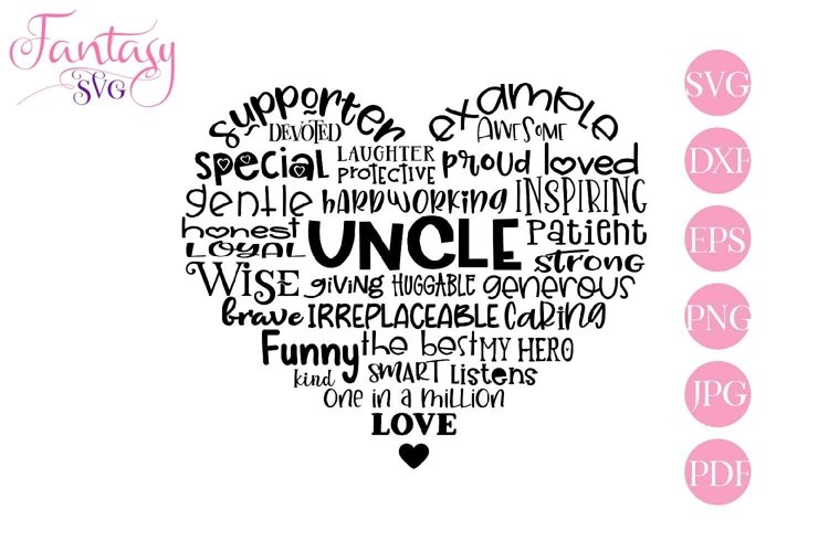 Uncle Word Art - Svg Cut Files example image 1