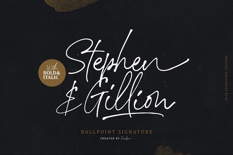 Stephen & Gillion - Signature Script example image 1