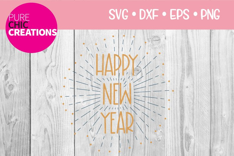 New Years SVG|Happy New Year|SVG DXF PNG EPS example image 1