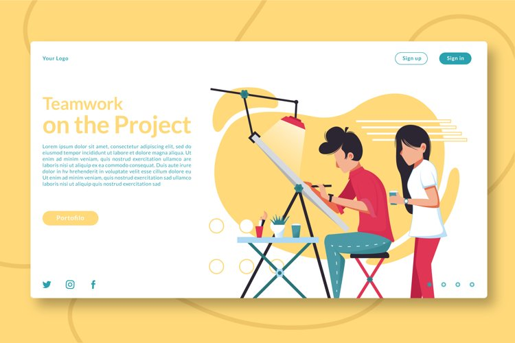 Teamwork on the Project Landing Page example image 1