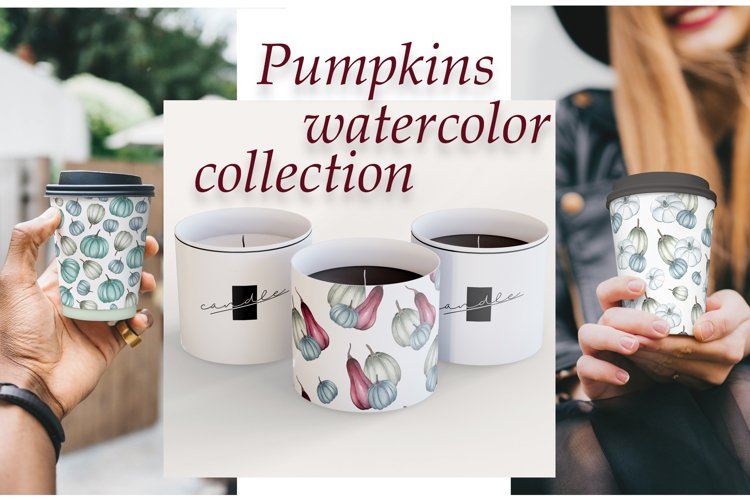 Pumpkins watercolor collection example image 1