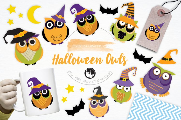 Halloween Owls graphics and illustrations - Free Design of The Week Font