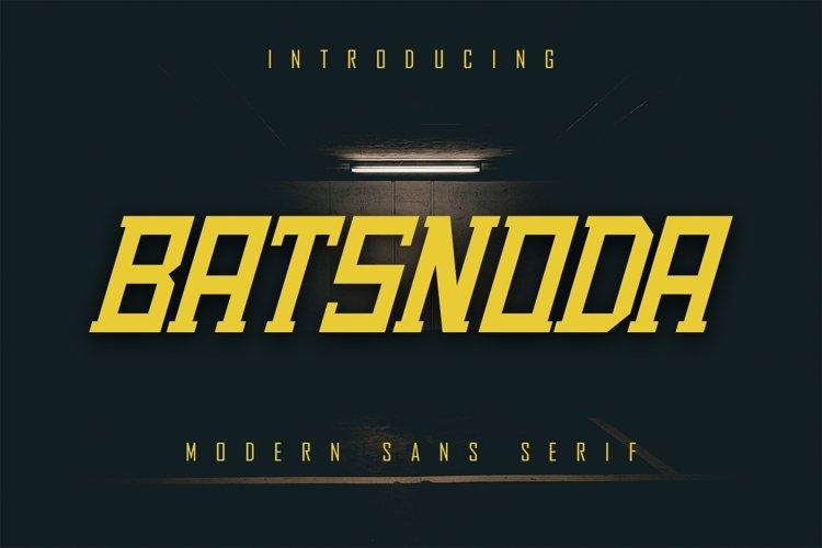 Batsnoda - Modern Sans Serif